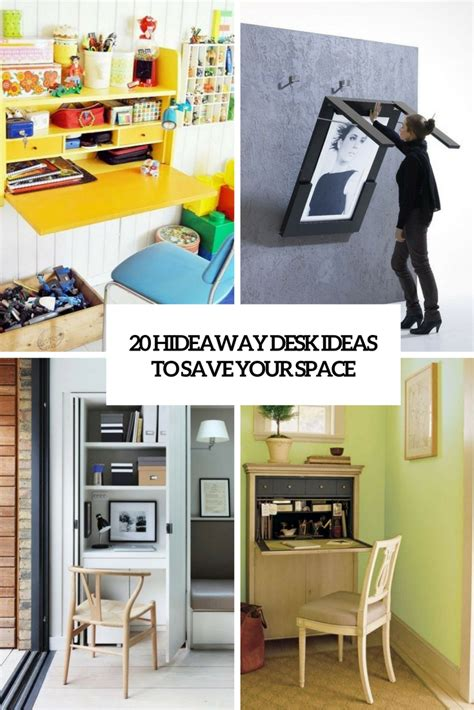 20 Hideaway Desk Ideas To Save Your Space  Shelterness. Rollup Desk. Bookcases With Drawers. Standing Desk Cubicle. Round Dinner Table. Ikea Loft Bed And Desk. Camo Pool Table. Campaign Desk Plans. Nursery Side Table