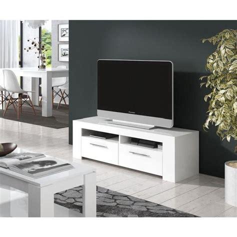 diamentino meuble tv 120cm blanc brillant achat vente meuble tv diamentino meuble tv 120cm