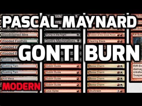 channel pmayne modern gonti burn deck tech match 1