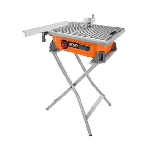 ridgid 7 in tile saw with stand r4020sn the home depot