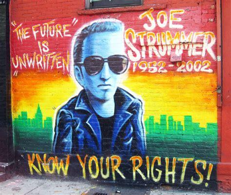 travel photo joe strummer mural in the east