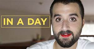 This man learns how to give himself a beauty make over in ...