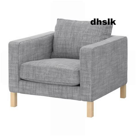 ikea karlstad armchair slipcover chair cover isunda gray grey