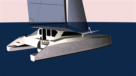 Schionning Catamaran Design by G Force 1200 Cad Rendering Schionning Designs Sailing