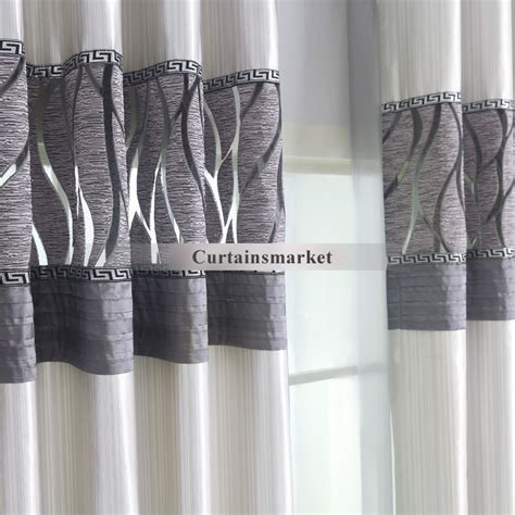 blackout curtains white and gray curtain menzilperde net