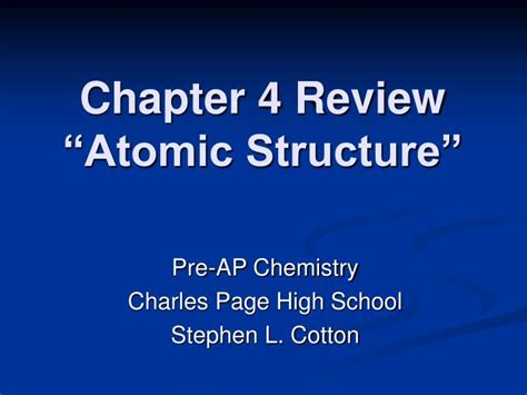 "Ppt  Chapter 4 Review ""atomic Structure"" Powerpoint Presentation Id283095"