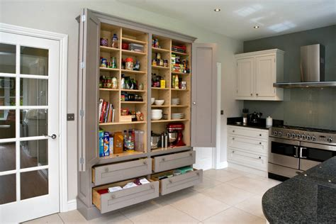 gorgeous freestanding pantry cabinet in kitchen traditional with woodlawn blue next to beverage