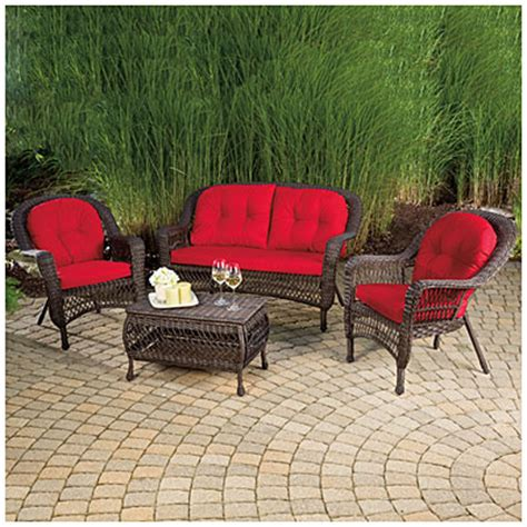 view wilson fisher 174 charleston resin wicker 4 seating set deals at big lots