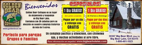 Big Bear Boat Rental Coupons by Golden Bear Cottage Gifts