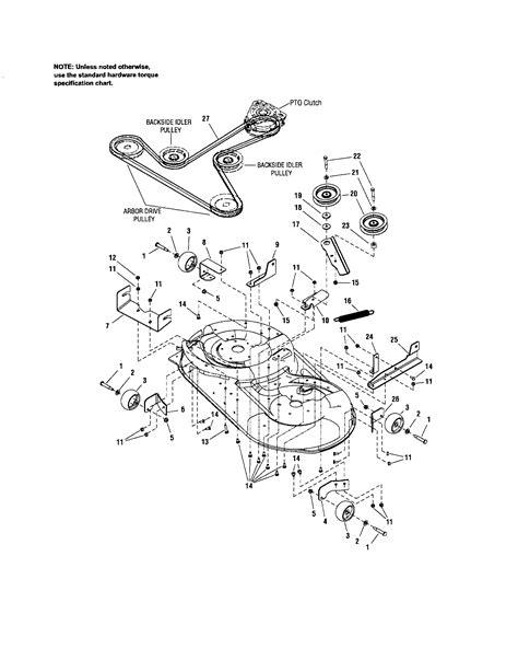 craftsman lt2000 pulley diagram craftsman get free image