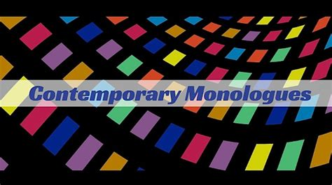 8 new contemporary published monologues monologue
