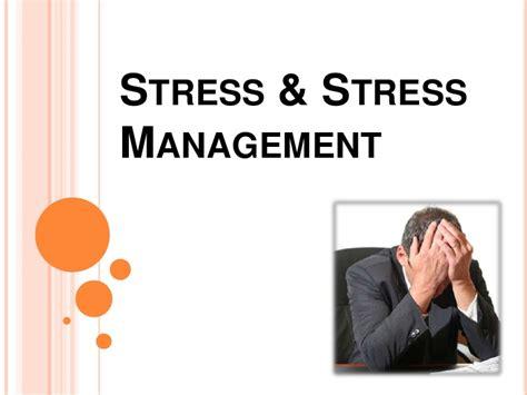 stress stress management