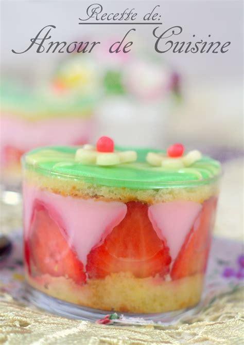 pudding aux fraises comme un fraisier amour de cuisine
