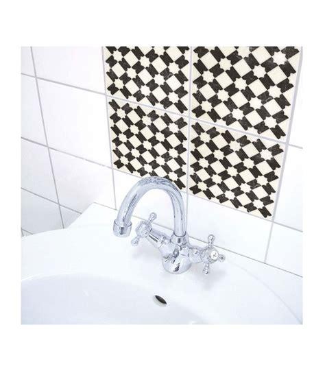 stickers pour carrelage de salle de bain ou cuisine carreaux noir et blanc wadiga