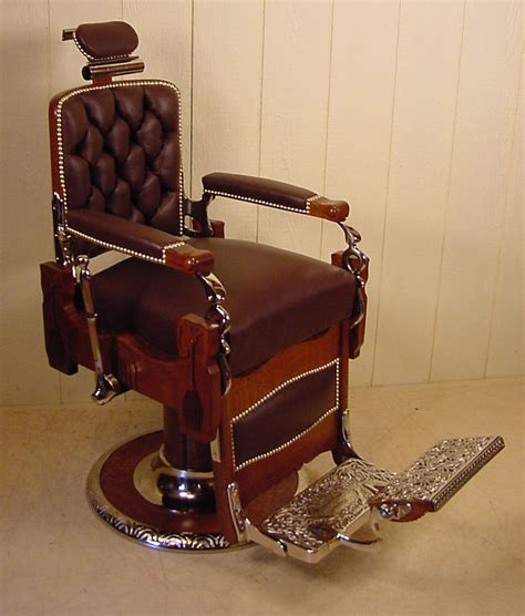 koken oak barber chair circa 1910 antique barber chairs