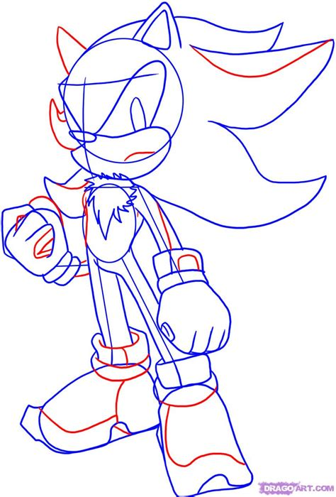How To Draw Shadow The Hedgehog, Step By Step, Sonic
