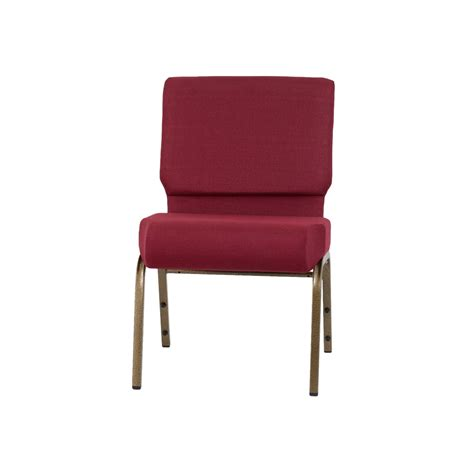 hercules series 21 w stacking church chair in burgundy fabric gold vein frame fd ch0221 4 gv