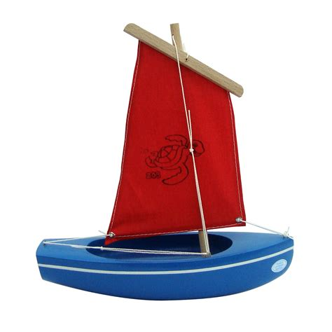 Toy Boat At Home by Small Toy Boat 203 Turtle Blue Red 24cm Little