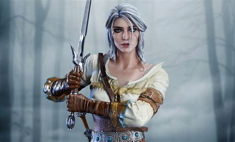 Witcher 3 Home Decorations :  Wild Hunt Ciri Of Cintra Statue By Prime 1