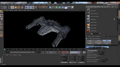 Modeling Spaceship + Greebler