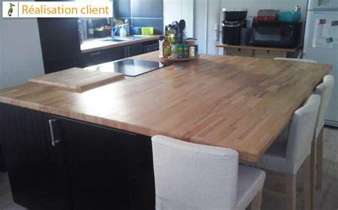 r 233 novation de cuisine avec plans de travail en h 234 tre massif le du bois