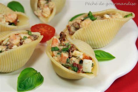 p 226 tes coquillages farcies aux tomates s 233 ch 233 es et crevettes p 233 ch 233 de gourmandise