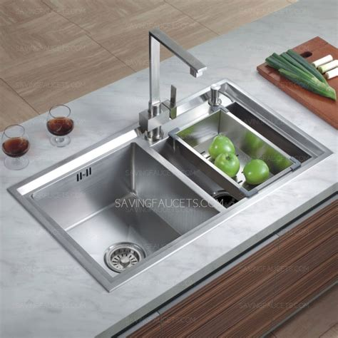 Contemporary Stainless Steel Double Bowl Kitchen Sinks