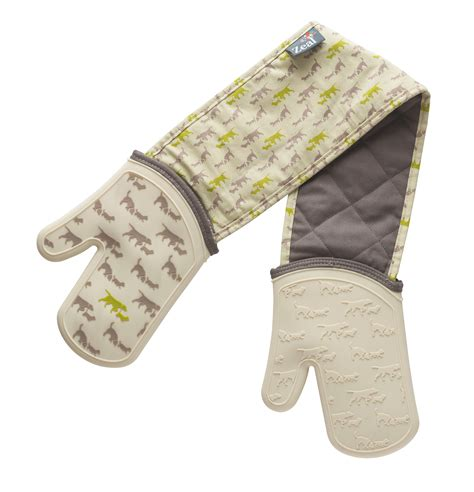 Zeal Oven Gloves by Zeal By Cks Double Oven Gloves Animal Print Waterproof