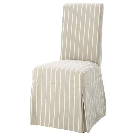 housse longue de chaise 224 rayures en coton beige margaux maisons du monde