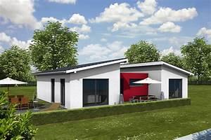 Fertighaus Schlüsselfertig Inkl Bodenplatte : bungalow pultdach iqhausbau ~ Markanthonyermac.com Haus und Dekorationen