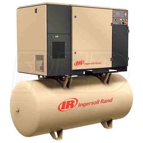 ingersoll rand up6 15 125 230 3 15 hp 80 gallon rotary air compressor 230v 3 phase 125psi