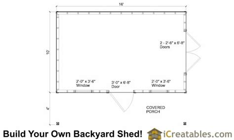 10x16 shed floor plans 10x16 colonial shed with porch plans