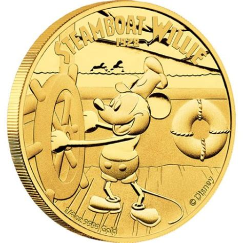 Steamboat Perth by Disney Steamboat Willie 2014 1 4oz Gold Proof Coin The
