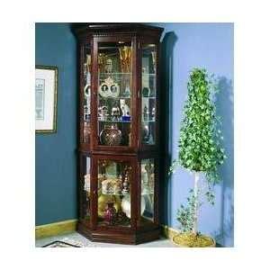 pulaski keepsakes cherry corner curio cabinet