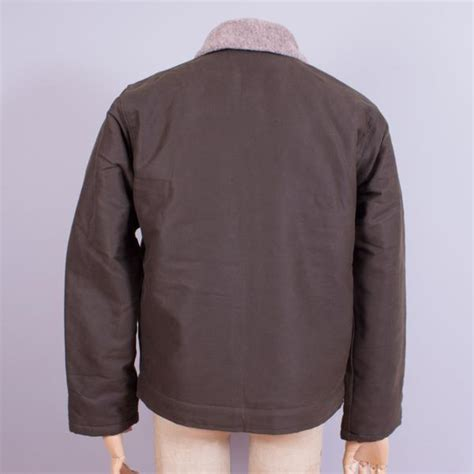 usn n 1 deck jacket waxed olive j cosmo