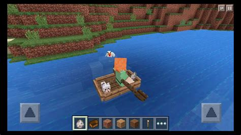How To Make A Little Boat In Minecraft by Minecraft Pe 0 11 0 Update Boat Ride With My Pet In Mcpe