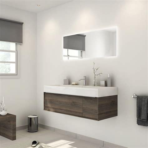 meuble de salle de bains plus de 120 brun marron neo frame leroy merlin