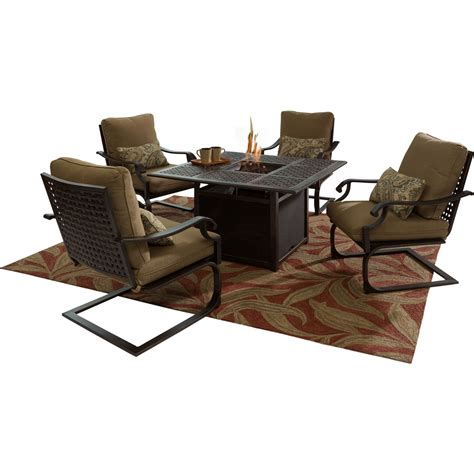 Courtyard Creations Pit Patio Furniture by Courtyard Creations Amherst 5 Pc Pit Chat Set