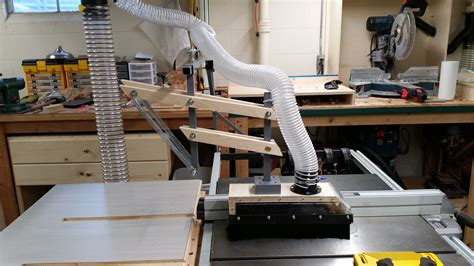Table Saw Overarm Dust Collector Addition  In The Shop