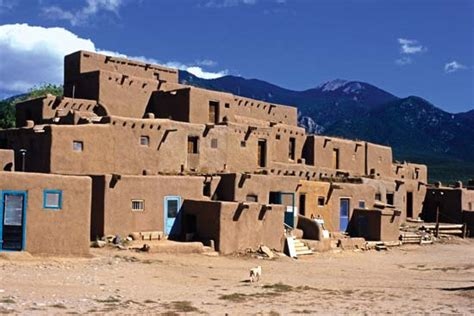 pueblo they are common to the southwest desert the earth taos pueblo students britannica homework help