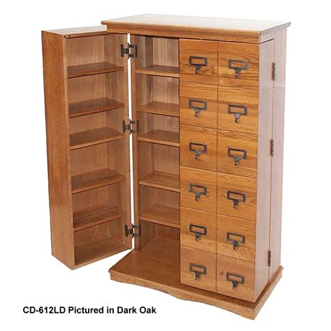 leslie dame library style multimedia storage cabinet walnut cd 612lw