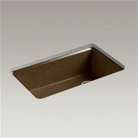 kohler k 5871 5ua3 ka riverby single bowl undermount kitchen sink with accessories black n