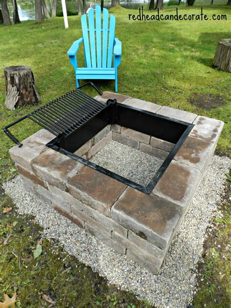 Easy Diy Fire Pit Kit With Grill  Redhead Can Decorate. Tressel Table. Tiny Desks. Granite Table Tops. 4 Drawer Storage Cart. Build Your Own Computer Desk. Burl Coffee Table. Closet Drawers Ikea. Farmers Insurance Help Desk
