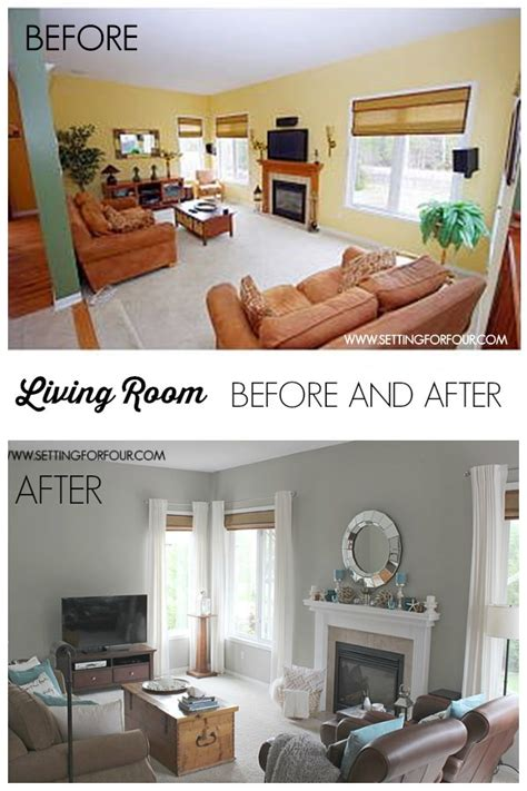 my quickandeasy living room before after makeover setting for four