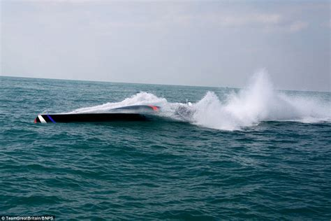 Driving Boat In Waves by Team Great Britain Will Attempt To Sail From Cornwall To