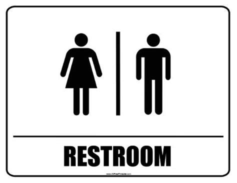restroom signs free printable allfreeprintable