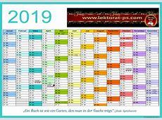 Lektorat, Kalender 2019, Jahresplaner 2019, kostenloser