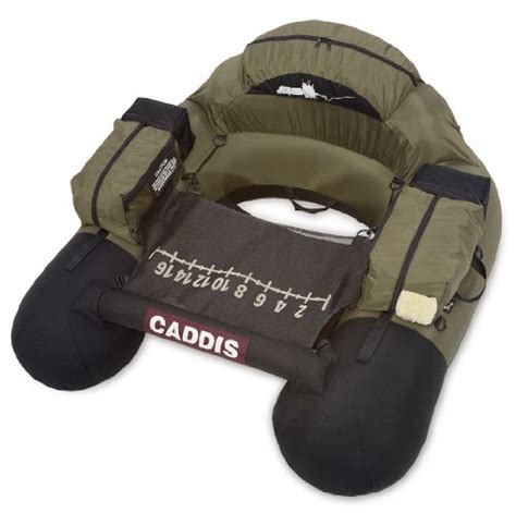 Round Belly Boat by Caddis Sports 225 Pound Capacity Nevada Gold Float Tube