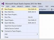 Using Visual Studio 2013 to create a Basic ASPNET 45 Web