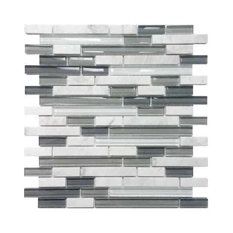 avenzo 5 8 in arctic white gray glass wall tile lowe s canada bathroom renos